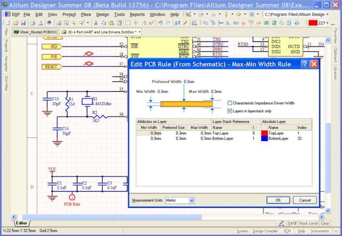 Altium designer выделить цепь в схеме